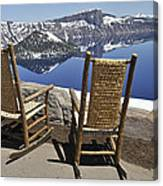 Share A Moment At Crater Lake Oregon Canvas Print