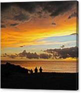 Sharing A Sky Canvas Print