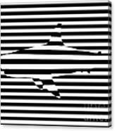 Shark Optical Illusion Canvas Print