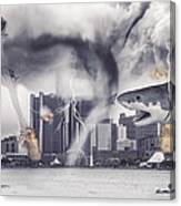 Sharknado Detroit Canvas Print