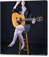 Sharon With Guitar Canvas Print