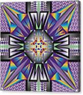Sharp Tile Art Canvas Print