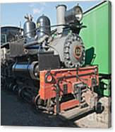 Shay Engine 12 In The Colorado Railroad Museum Canvas Print
