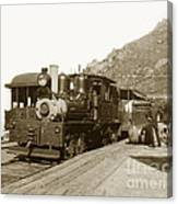Shay No. 498 At The Summit Of Mt. Tamalpais Marin Co California Circa 1902 Canvas Print