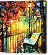 She Left... - Palette Knife Oil Painting On Canvas By Leonid Afremov Canvas Print