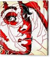 She Pop Art Rose Canvas Print