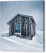 Shed In The Blizzard Canvas Print