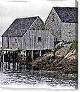 Sheds At Peggys Cove Canvas Print