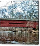 Sheeder - Hall - Covered Bridge Chester County Pa Canvas Print
