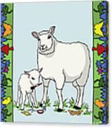 Sheep Artist Sheep Art II Canvas Print