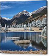 Sheep Lakes In Late October Canvas Print