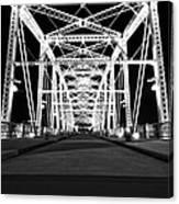 Shelby Street Bridge At Night In Nashville Canvas Print
