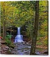 Sheldon Reynolds Falls And Kitchen Creek Canvas Print