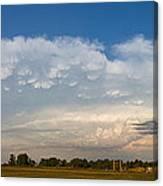 Shelf Cloud Mamacumulus Leading Edge  Canvas Print