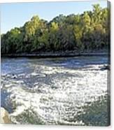 Shell Rock Dam Canvas Print