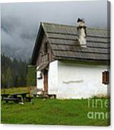 Shelter In The Mountains Canvas Print