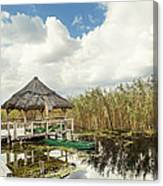Shelter Reed On Lake Canvas Print