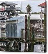 Shem Creek Dockage Canvas Print