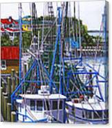 Shem Creek Shrimp Boats Canvas Print