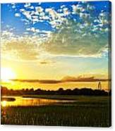 Shem Creek Sunset Canvas Print