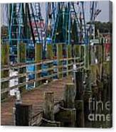 Shem Creek Wharf Canvas Print