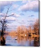 Shenandoah River In Late Autumn Canvas Print