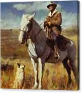 Shepherd And His Dog Canvas Print