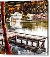 Shepherd Mountain Lake Bright Canvas Print