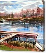 Shepherd Mountain Lake In Winter Canvas Print