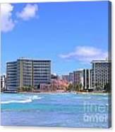 Sheraton And Royal Hawaiian View Canvas Print