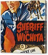 Sheriff Of Wichita, L-r Allan Rocky Canvas Print
