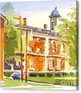 Sheriffs Residence With Courthouse II Canvas Print