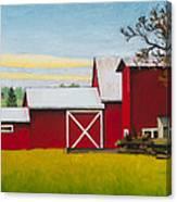 Sherman Squash Farm Canvas Print