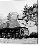 sherman tank memorial swift current Saskatchewan Canada Canvas Print