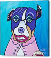She's A Pit Bull That Wears Lipstick Canvas Print