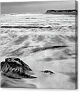 Shifting Sands On Ocracoke Outer Banks Bw Canvas Print
