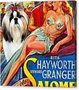 Shih Tzu Art - Salome Movie Poster Canvas Print