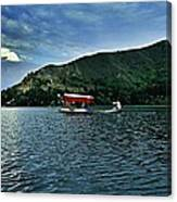 Shikara In Manasbal Lake Canvas Print