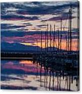 Shilshole Olympic Mountains Sunset Vertical Canvas Print