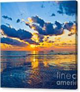 Shimmering Sundown Canvas Print