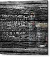 Shiner Black Lager Canvas Print