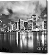 Shining Miami B/w Edition Canvas Print