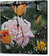 Shinning Roses Photo Manipulation Canvas Print