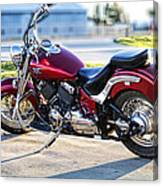 Shinny Red Bike Canvas Print