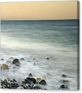 Shiny Rocks At The Sea Canvas Print