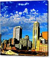 Shiny Seattle Canvas Print