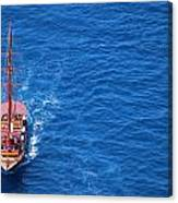 Ship By The Meditteranean Sea Canvas Print
