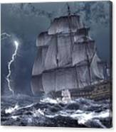 Ship In A Storm Canvas Print
