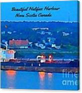 Ship In Beautiful Halifax Harbour Canvas Print