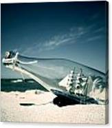 Ship In The Bottle Canvas Print